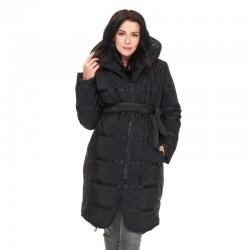 Zimní prošívaná těhotenská bunda CAIRON černá.