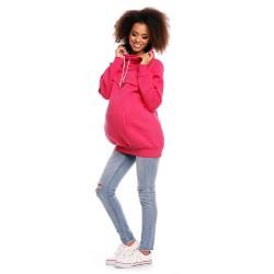 Těhotenská a kojící mikina Dora amarantová