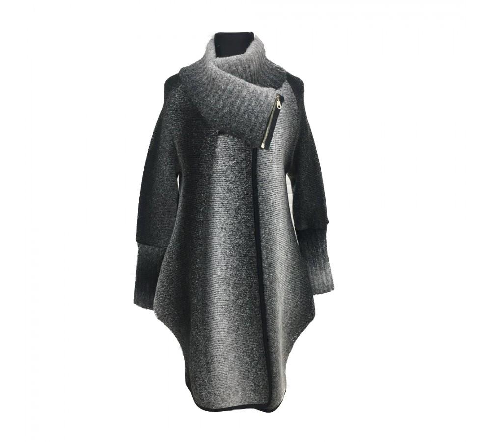Těhotenský kabátek Reni šedý   Móda TaLeTi 5388ffaa90