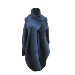 Těhotenský kabátek Reni modrý