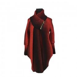 Těhotenský kabátek Reni červený