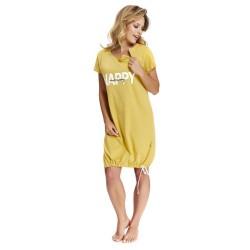Těhotenská noční košilka Elean 1  pro kojení žlutá