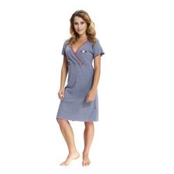 Těhotenská noční košilka Elean S  pro kojení šedá