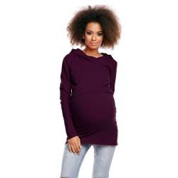 Těhotenská a kojící tunika  Jamal švestková