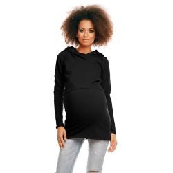 Těhotenská a kojící tunika  Jamal černá