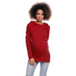 Těhotenská a kojící tunika  Jamal bordó