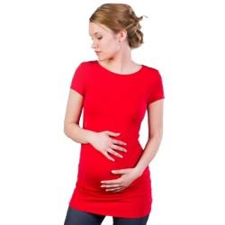 Těhotenská halenka Kaza červená