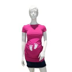 Těhotenská halenka Kaza růžová  tlapičky