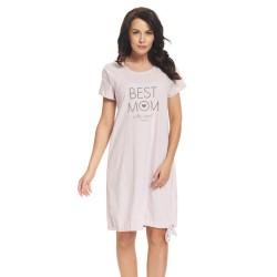 Těhotenská noční košilka Elean s možností kojení růžová