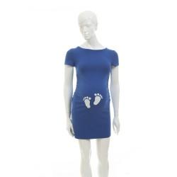 Těhotenská halenka Kaza cornflower  tlapičky