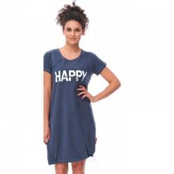 Těhotenská noční košilka Elean H pro kojení tmavě modrá