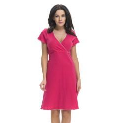 Těhotenská noční košilka Elean S pro kojení červená