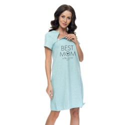 Těhotenská noční košilka Elean B pro kojení máta