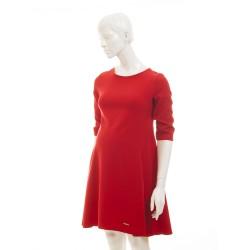 Těhotenské luxusní šaty ADI A  červené