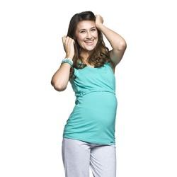 Těhotenské a kojící tílko Auril tyrkysové