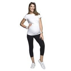 Těhotenská halenka Basic bílá krátký rukáv