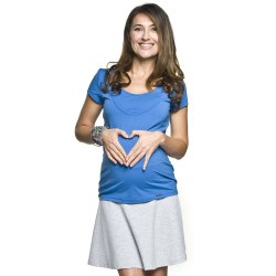 Těhotenská a kojící halenka Beli modrá