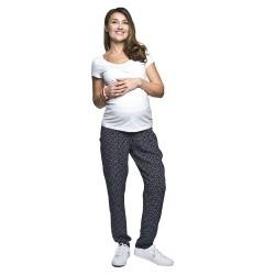 Těhotenská a kojící halenka Beli bílá