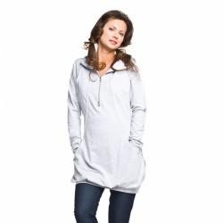 Těhotenská a kojící tunika Leria šedá