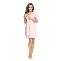 Těhotenská noční košilka Týna pro kojení růžová