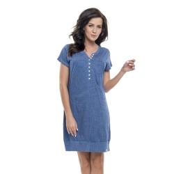 Těhotenská noční košilka Kristýna pro kojení jeans