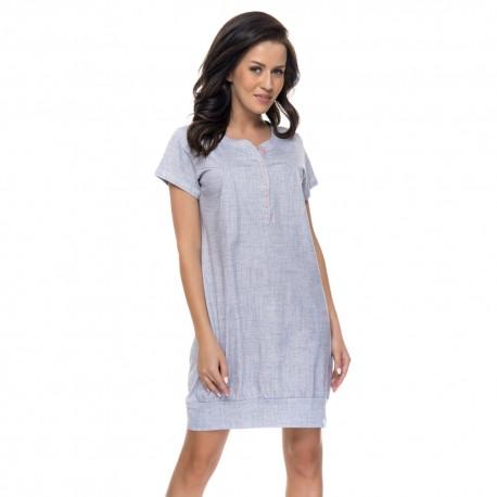 Těhotenská noční košilka Kristýna pro kojení světle šedá