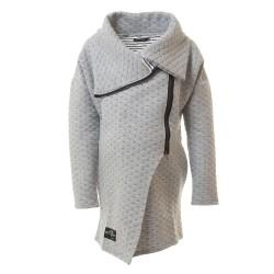 Těhotenský jarní kabátek Dolce světle šedý