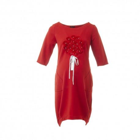 Těhotenské šaty Clea červené