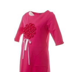 Těhotenské šaty Clea amarantová
