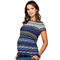 Těhotenská a kojící halenka Gaja barevný vzor
