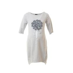 Těhotenské šaty Clea šedé