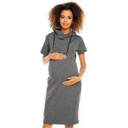 Těhotenské a kojící šaty Rút grafitové