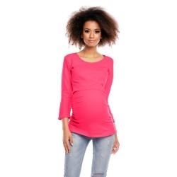 Těhotenská a kojící halenka Saskie fuchsie