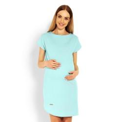Těhotenské elegantní šaty Lilian máta