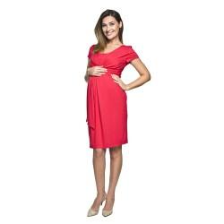 Těhotenské šaty Blufi červené