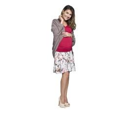 Těhotenský přehoz Etel šedý