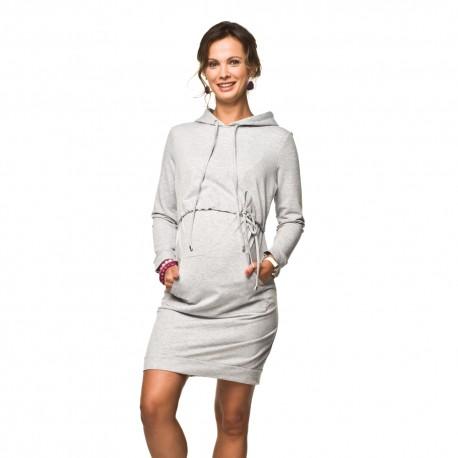 Těhotenské a kojící sportovní šaty Hoodie