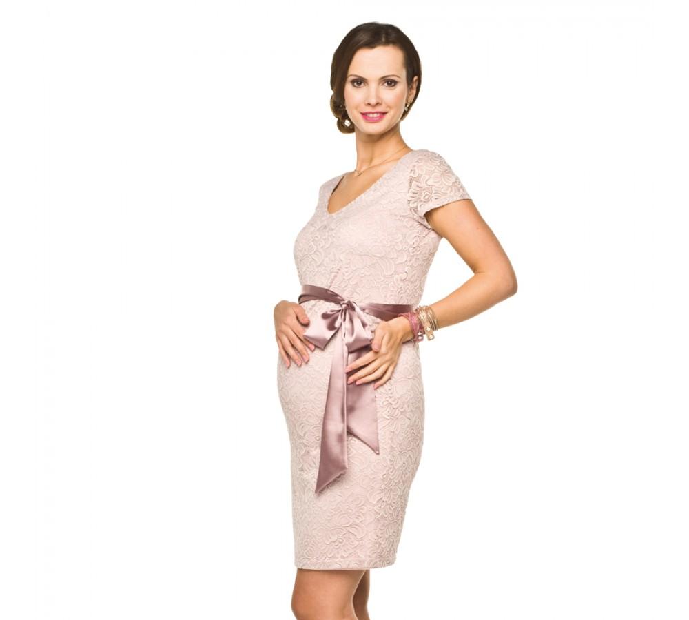 6b220dc9bc5c Luxusní krajkové těhotenské šaty Lace světle růžové   Móda TaLeTi