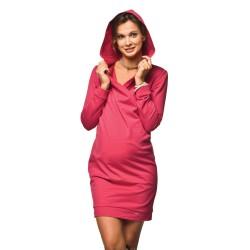 Sportovní těhotenské šaty Lilam malinová