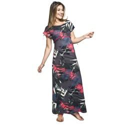 Dlouhé těhotenské šaty Nelin rostlinný vzor