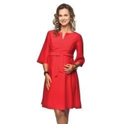 Těhotenské a kojící šaty Nimis červená