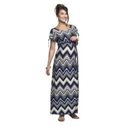 Dlouhé těhotenské šaty Nelin afro vzor