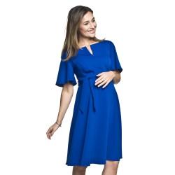 Těhotenské a kojící šaty Nimis modrá