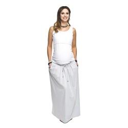 Těhotenská sukně Madi světle šedá