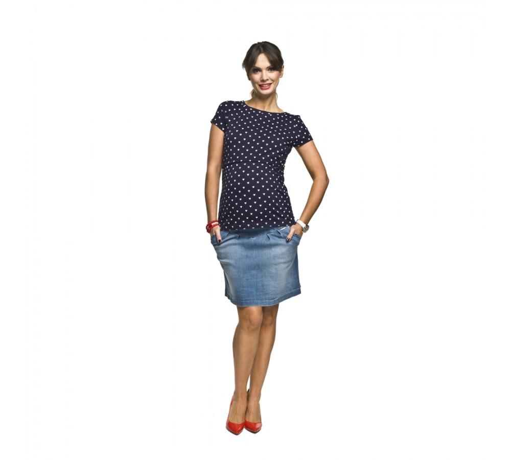 Riflová těhotenská sukně Suzi