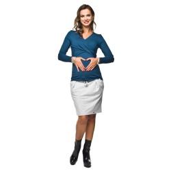 Těhotenská sukně SWING SUMMER - světle šedá.