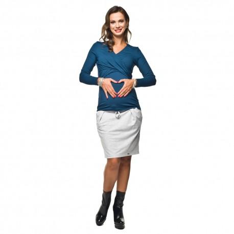 Letní těhotenská sukně Swing šedá