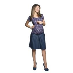 Těhotenská sukně Vena šedomodrá