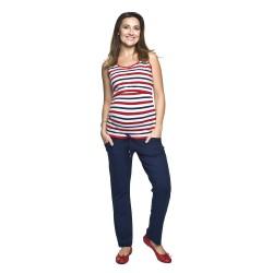 Sportovní těhotenské kalhoty Funo tmavě modré