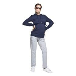 Sportovní těhotenské kalhoty Funo světle šedé